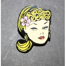 Barbie Head Pin / 20-Blonde