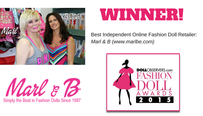Marlbe.com - 2015 Best Independent Online Fashion Doll Retailer. Fashion Doll Awards 2015 - dollobservers.com